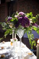 Martini glass table decoration