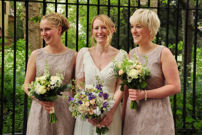 wedding bouquet for bride and bridesmaids, vintage wedding flowers