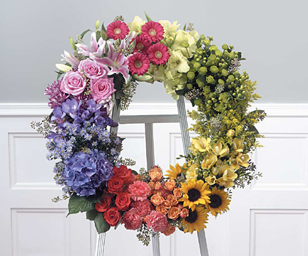 colourful wreath happy colours