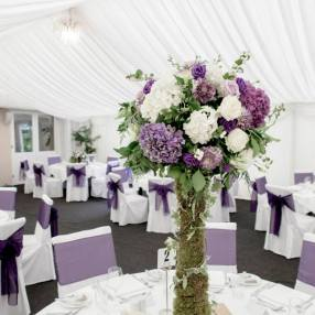 tall woodland centerpieces by Your London Florist
