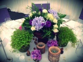 woodland wedding table arrangement by Your London Florist