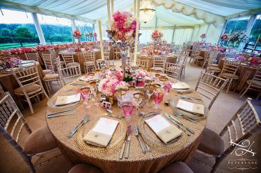 candelabras with flowers by Your London Florist