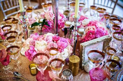 pink and white flower centerpieces attention to the detail by Your London Florist