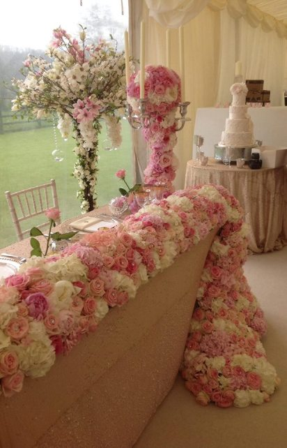 flower waterfall by Your London Florist
