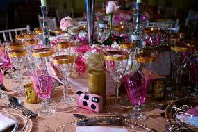 pink and white flower centerpieces