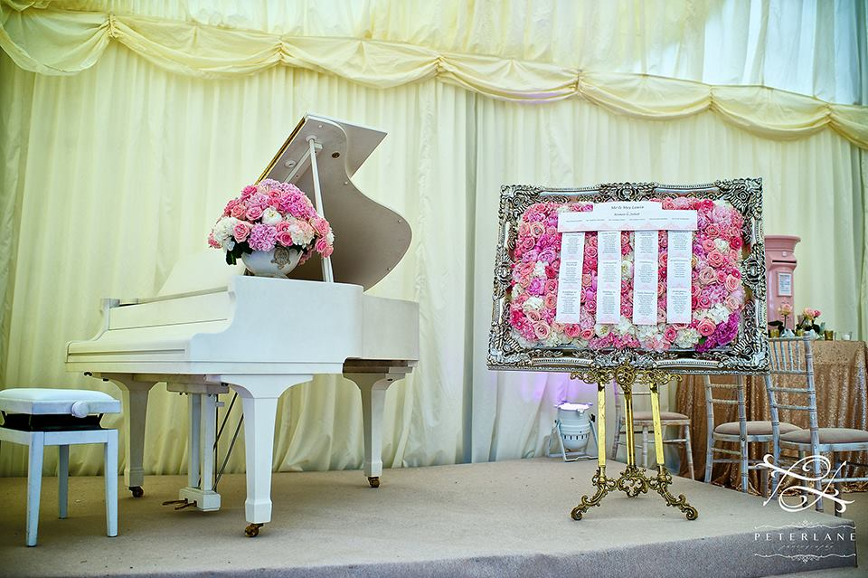Marquee pink and white flowers by Your London Florist