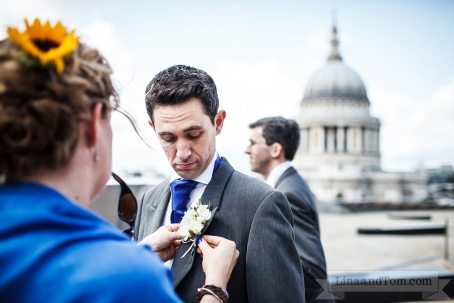 Groom's buttonhole by Your London Florist