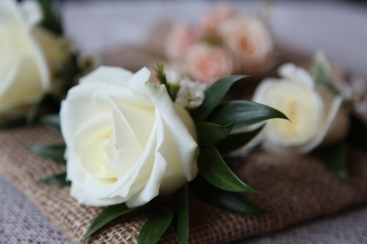 cream rose buttonhole by Your London Florist