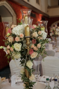 candelabra flowers by Your London Florist