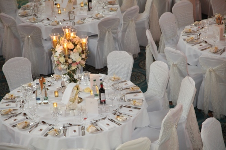 wedding centrepiece candelabra by Your London Florist