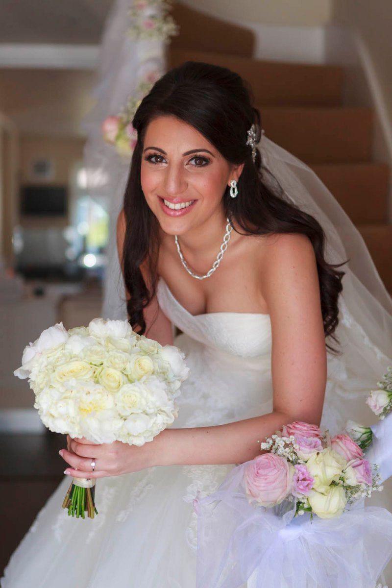 white wedding bouquet by Your London Florist