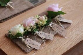 rose buttonholes by Your London Florist