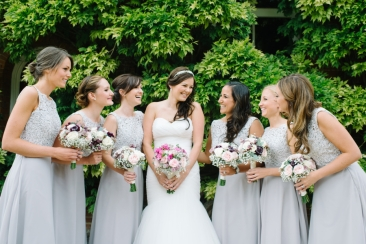 brides and bridesmaids bouquets by Your London Florist