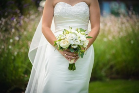 white wedding bouquet by Your London Florist