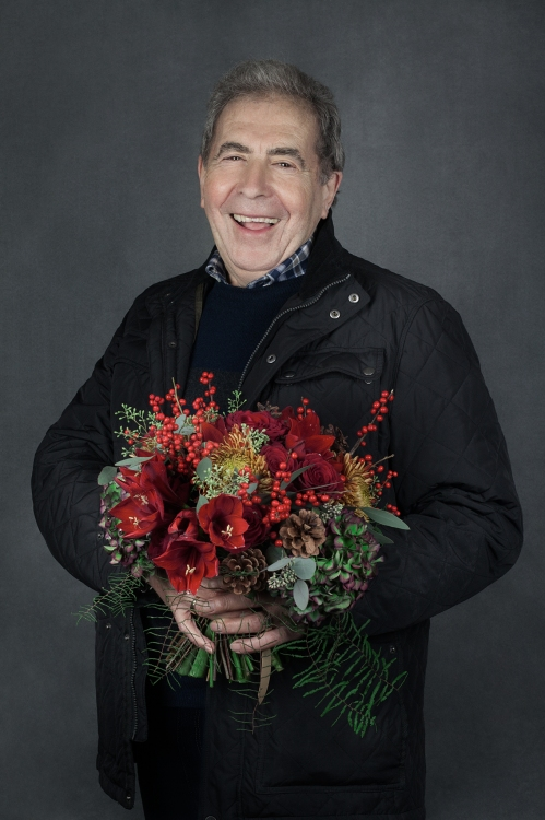 Martin and bouquet