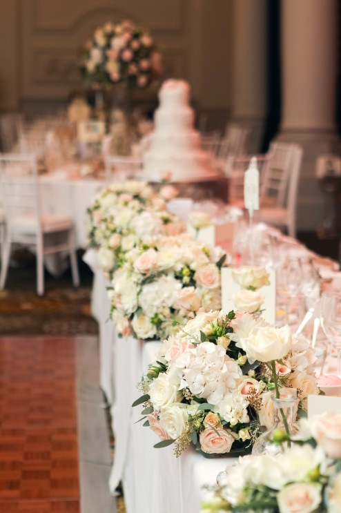 top table flower arrangements by Your London Florist