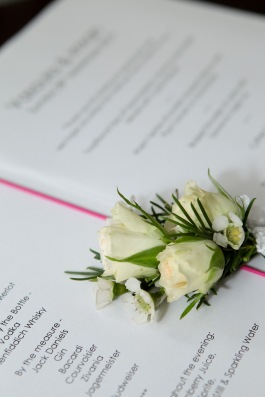 cream spray rose buttonhole by Your London Florist