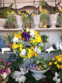 easter flower shop display