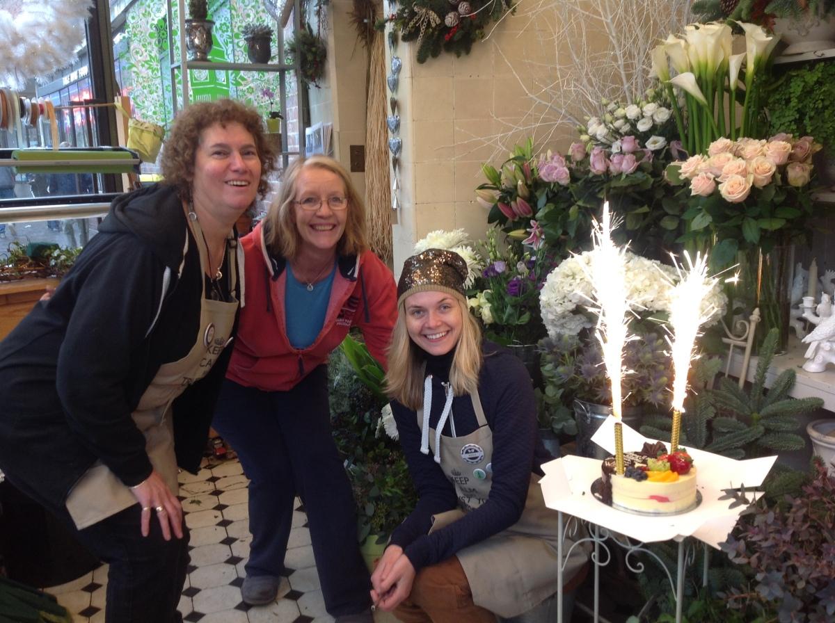 birthday at flower shop