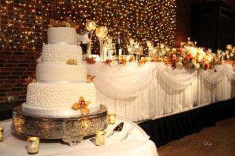 wedding top table flowers