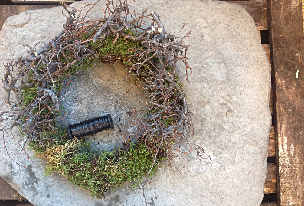 decorated moss wreath