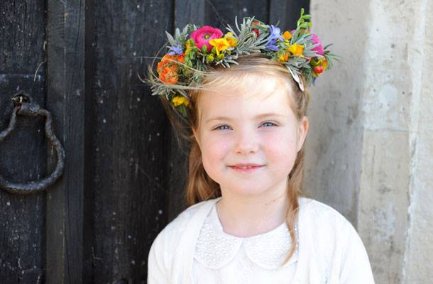 flower girl flowers flower circlet