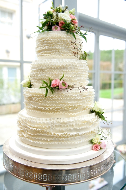 fresh cake flowers