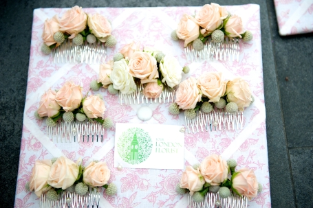 wedding flower comb
