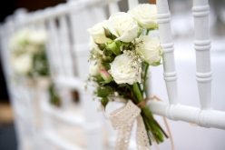 wedding chair flowers