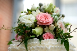 cake flower posy