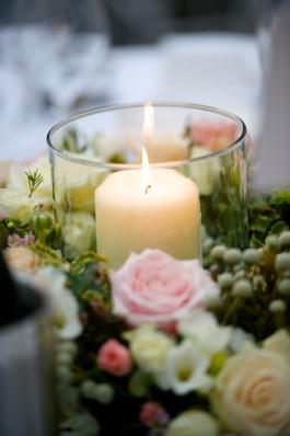 wedding table flower wreath
