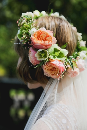 wedding flower circlet