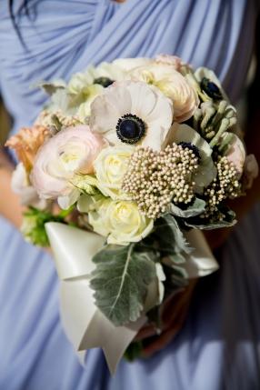 bridesmaids bouquet anemones and ranunculus
